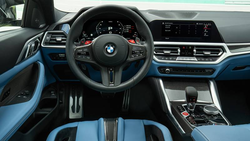 Interior of the 2021 BMW M3 and M4