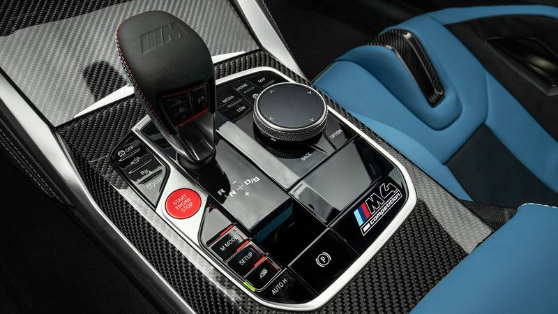 Automatic gearstick in the 2021 BMW M3 and M4