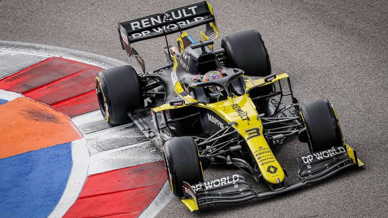 Daniel Ricciardo in the renault during qualifying for the 2020 F1 Russian Grand Prix