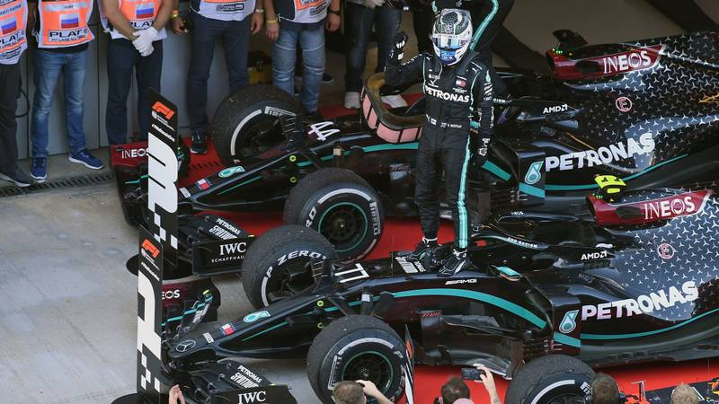 2020 F1 Russian Grand Prix report:  Bottas dominates after double penalty for Hamilton