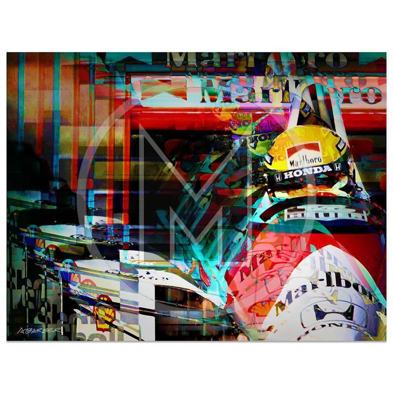 Product image for Ayrton Senna | McLaren-Honda | San Marino Grand Prix | 1990 | Art Print
