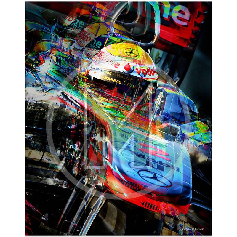 Product image for Lewis Hamilton | McLaren-Mercedes | Valencia | 2011 | Art Print