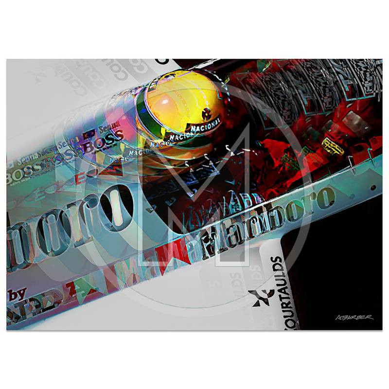 Product image for Ayrton Senna | McLaren-Honda MP4/5 | Monaco Grand Prix | 1989 | Art Print