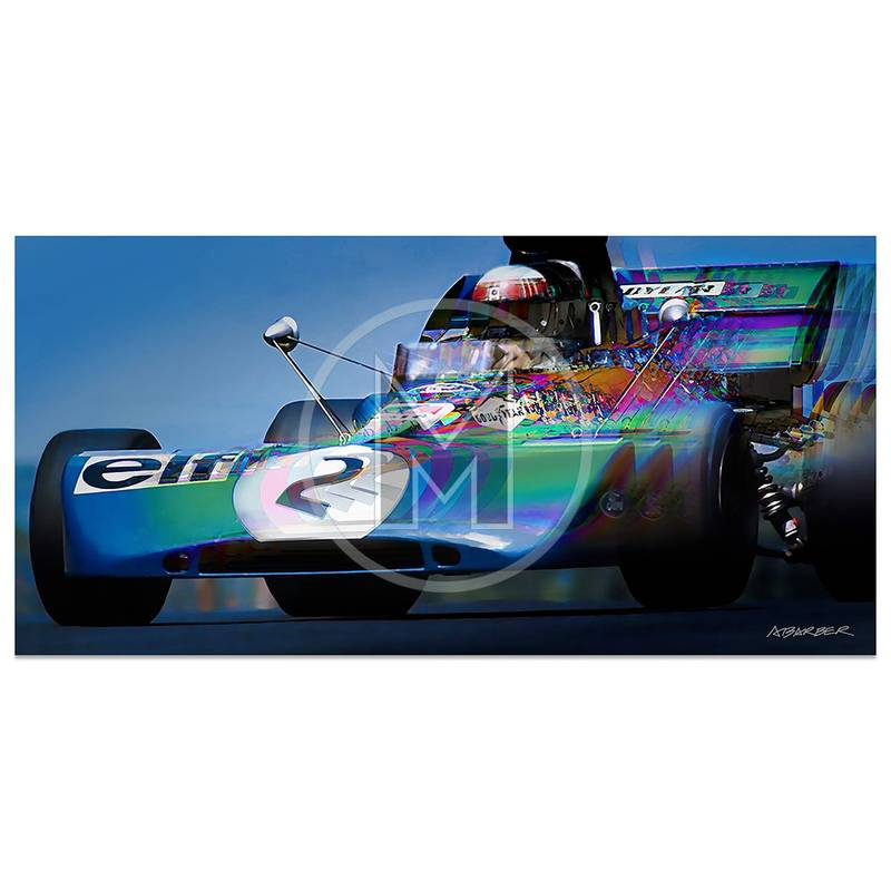 Product image for Jackie Stewart | Tyrell 003 | German Grand Prix | 1971 | Art Print