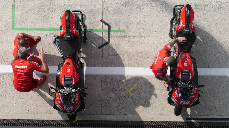 'Look on my works, ye Mighty, and despair!' — the bare, lone MotoGP paddock