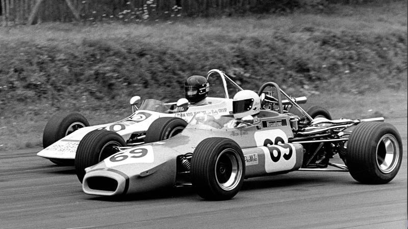 James Hunt battles with Alan Jones at Brands Hatch in the 1971 British Formula 3 Championship