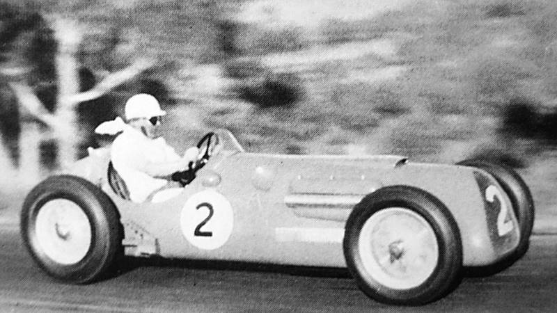 Stan Jones driving a Maybach in the 1954 Bathurst 100