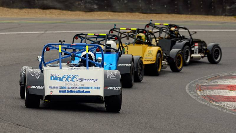 Caterhams at Brands Hatch during the British Racing & Sports Car Club September 2020 meeting