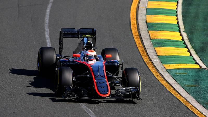 Jenson Button in his McLaren during the 2015 F1 Australian Grand Prix