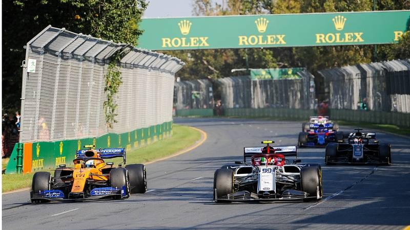 Lando Norris, Antonio Giovinazzi, 2019 Australian GP