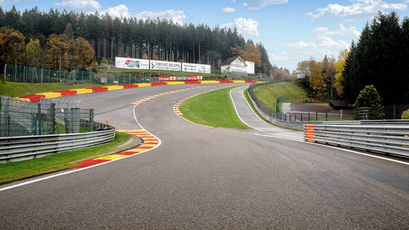 Eau Rouge and Raidillon 2020 layout