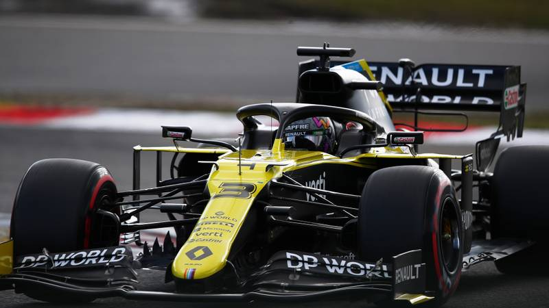 Daniel Ricciardo at the Nurburgring during qualifying for the 2020 F1 Eifel Grand Prix