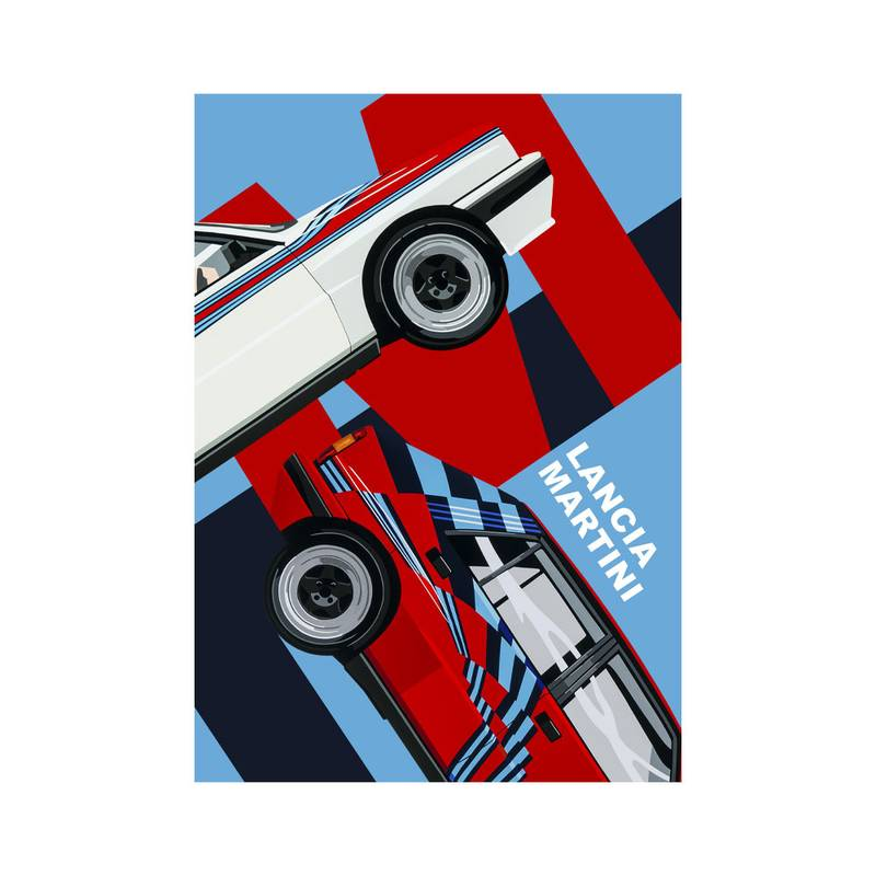 Product image for Lancia Martini | Joel Clark | poster-print