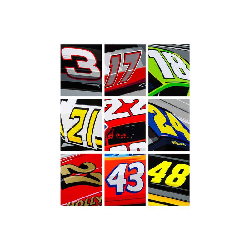 Product image for Nascar Numbers | Joel Clark | poster-print