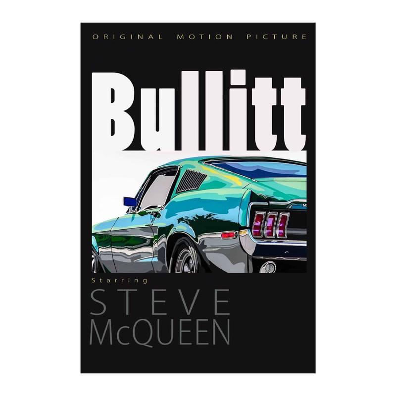 Product image for Bullitt Movie Poster | Joel Clark | poster-print