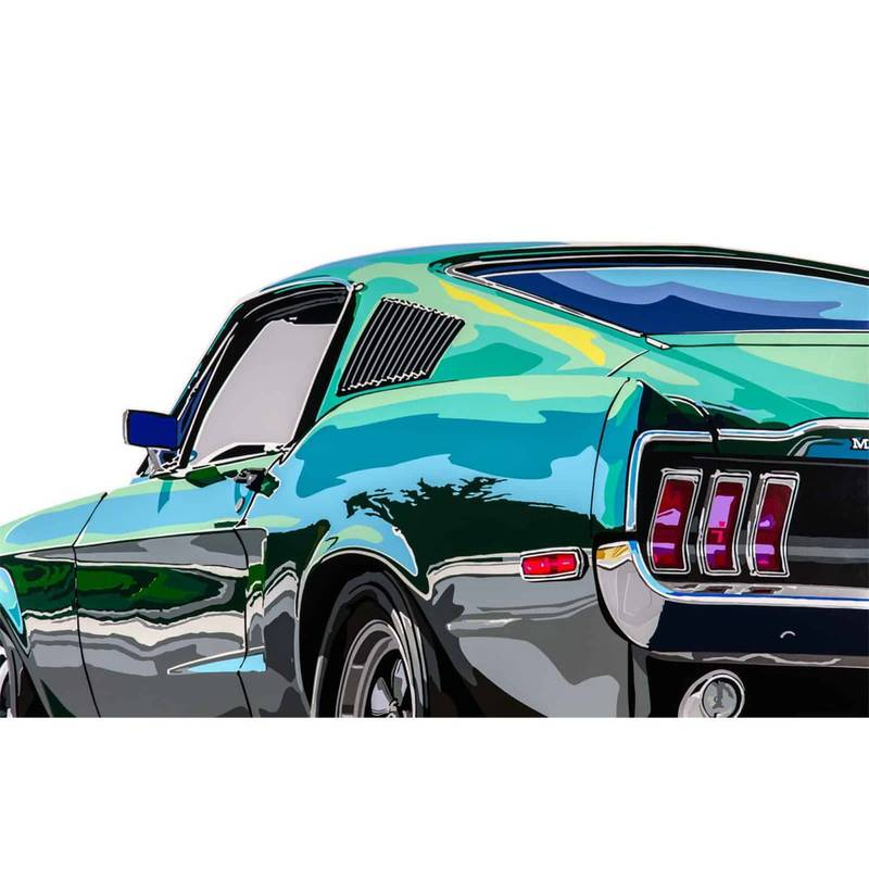 Product image for Bullitt Mustang | Joel Clark | poster-print