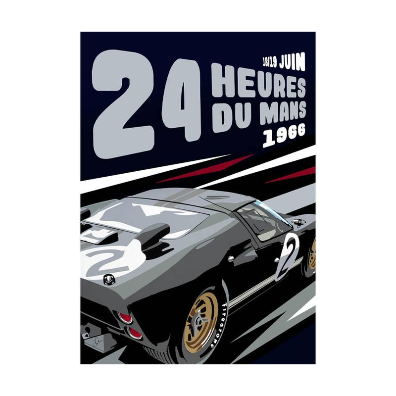 Product image for GT40 Le Mans '66 | Joel Clark | poster-print