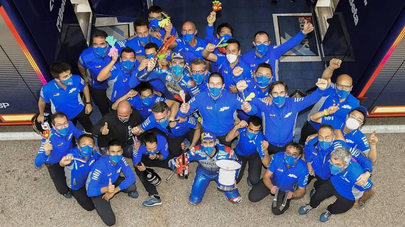 Suzuki team after Aragon 2020 MotoGP